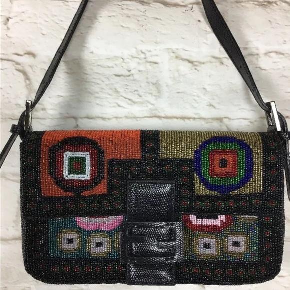 62c8e91fdf4e shopping fendi beaded handbag ebay 54ba5 35532  top quality limited edition fendi  beaded baguette bag a80f0 44afa